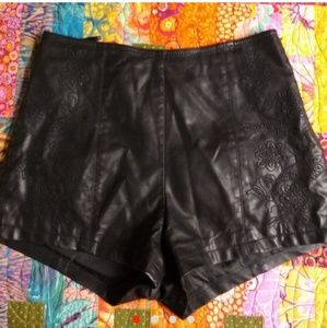 Forever 21 Black Faux Leather Shorts.